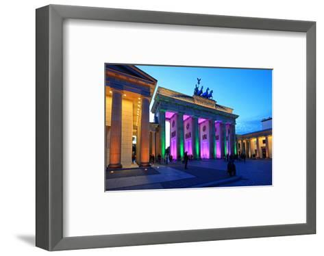 Festival of Lights, Brandenburg Gate at Pariser Platz, Berlin, Germany--Framed Art Print