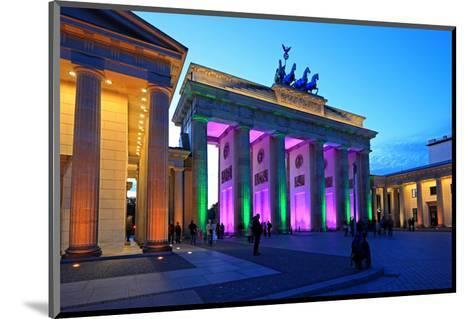 Festival of Lights, Brandenburg Gate at Pariser Platz, Berlin, Germany--Mounted Art Print