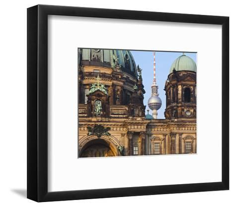 Berlin Cathedral with Television Tower, Berlin, Germany--Framed Art Print