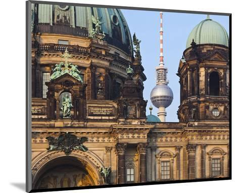 Berlin Cathedral with Television Tower, Berlin, Germany--Mounted Art Print