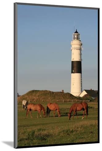 Lighthouse in Kampen, Sylt, Schleswig Holstein, Germany--Mounted Art Print