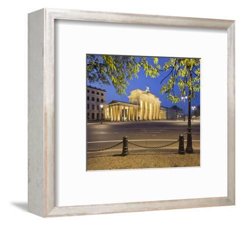 Brandenburger Tor in the evening, Berlin, Germany--Framed Art Print