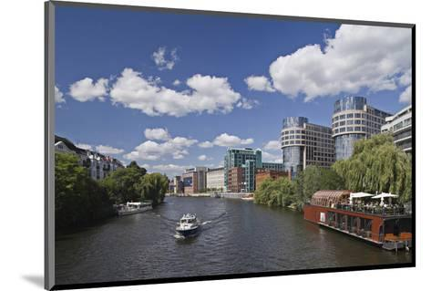 Hotel Sorat and Federal Ministry of the Interior on the banks of the Spree in Moabit, Berlin--Mounted Art Print