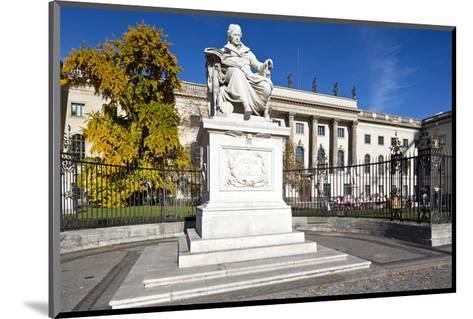 Monument of Wilhelm von Humboldt in front of Humboldt University, Unter den Linden, Berlin, Germany--Mounted Art Print