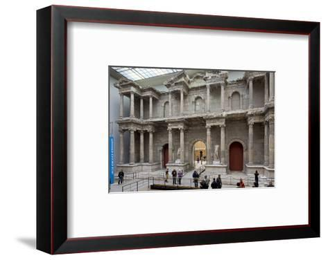 Roman Market Gate of Miletus at the Pergamon Museum, Museum Island, Berlin, Germany--Framed Art Print