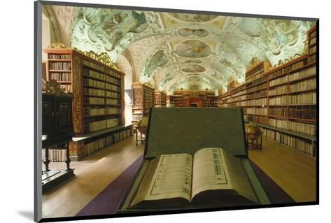 Theological library, Strahov Abbey, Prague, Central Bohemia, Czech Republic--Mounted Art Print