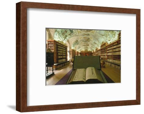 Theological library, Strahov Abbey, Prague, Central Bohemia, Czech Republic--Framed Art Print