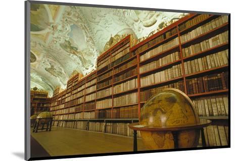 Theological library, Strahov Abbey, Prague, Central Bohemia, Czech Republic--Mounted Art Print