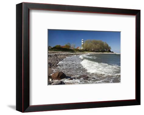 Beach at Buelk Lighthouse, Strande, Schleswig-Holstein, Germany--Framed Art Print