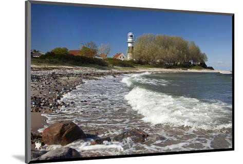 Beach at Buelk Lighthouse, Strande, Schleswig-Holstein, Germany--Mounted Art Print