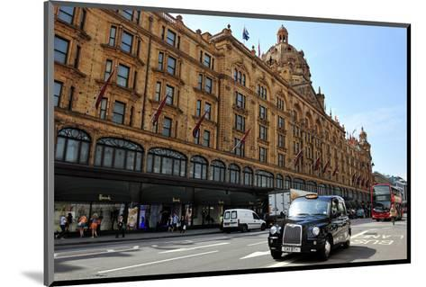 Harrods Department Store on Brompton Road, London--Mounted Art Print