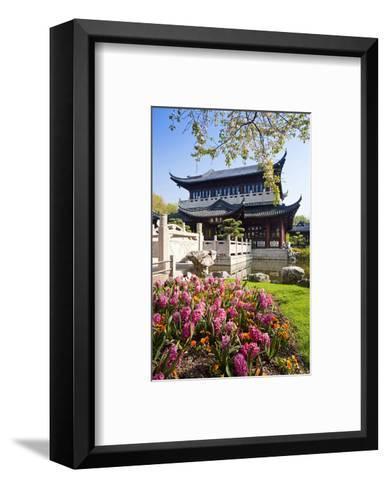 Chinese Tea House in the Chinese Garden, Luisenpark, Mannheim, Baden-Wuerttemberg,Germany--Framed Art Print