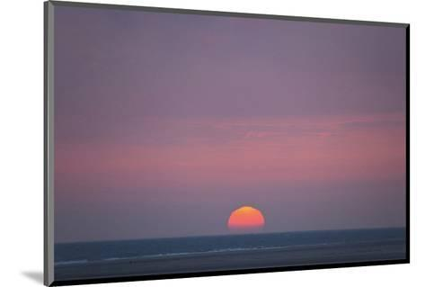Sunset at the sea, Amrum, Schleswig-Holstein, Germany--Mounted Art Print