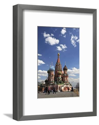 St. Basil's Cathedral on the Red Square, Moscow, Russia--Framed Art Print