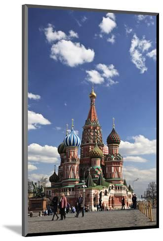 St. Basil's Cathedral on the Red Square, Moscow, Russia--Mounted Art Print