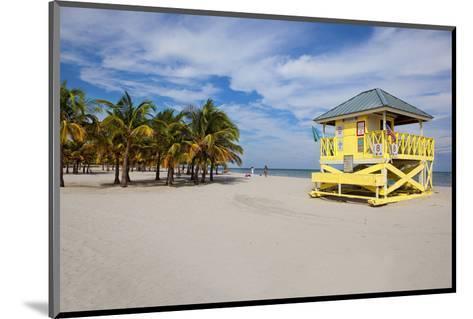 Lifeguard station on the Beach, Crandon Park, Key Biscayne, Florida, USA--Mounted Art Print