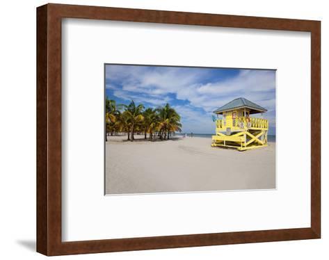 Lifeguard station on the Beach, Crandon Park, Key Biscayne, Florida, USA--Framed Art Print