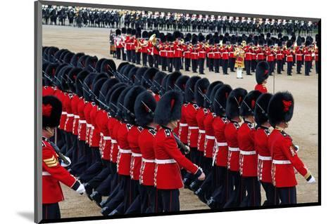 The Queen's Annual Birthday Parade Trooping the Colour, Horse Guards Parade at Whitehall, London--Mounted Art Print