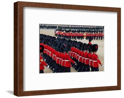 The Queen's Annual Birthday Parade Trooping the Colour, Horse Guards Parade at Whitehall, London--Framed Art Print