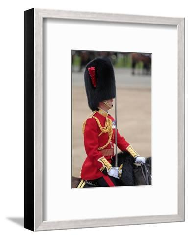 Officer at the The Queen's Annual Birthday Parade Trooping the Colour--Framed Art Print