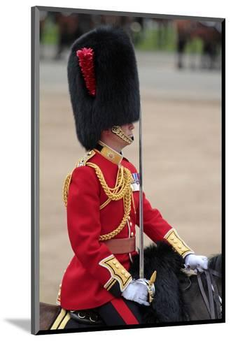 Officer at the The Queen's Annual Birthday Parade Trooping the Colour--Mounted Art Print