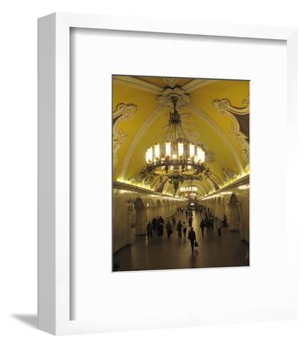 Metro Station Komsomolskaja, Moscow, Russia--Framed Art Print
