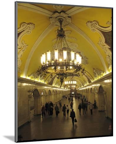 Metro Station Komsomolskaja, Moscow, Russia--Mounted Art Print