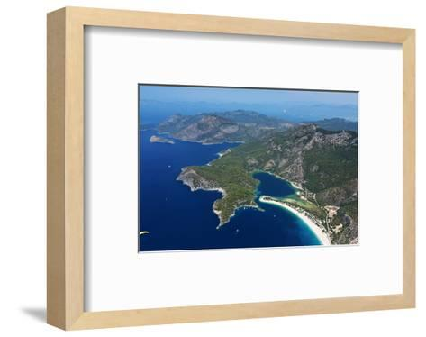 View of the Lagoon of Oludeniz near Fethiye, Mugla Province, Lycia, Turkey--Framed Art Print