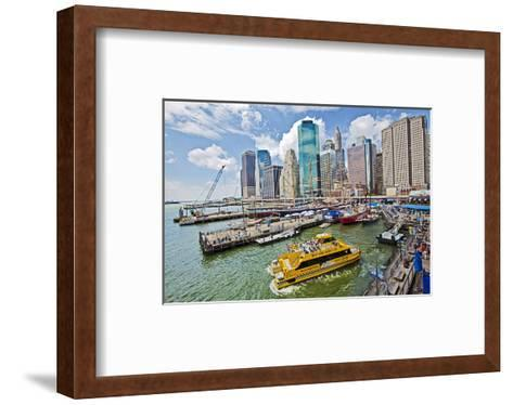 South Street Seaport Museum, New York City, New York, USA--Framed Art Print