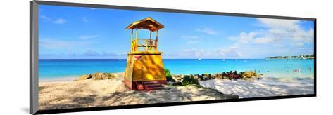 Lifeguard Station on the Beach between Miami Beach and Enterprise Beach in Oistins--Mounted Art Print