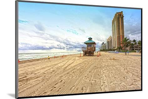 Lifeguard station on the Beach, Miami Beach, Florida, USA--Mounted Art Print