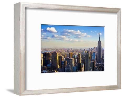 View towards the Empire State Building, Manhattan, New York City, New York, USA--Framed Art Print