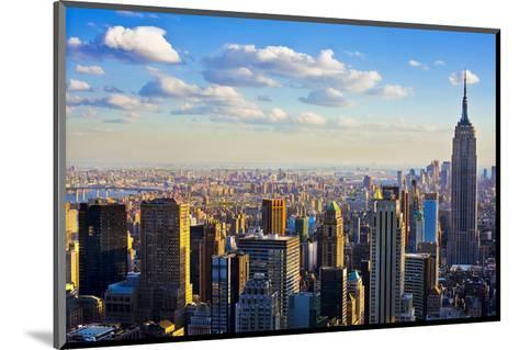 View towards the Empire State Building, Manhattan, New York City, New York, USA--Mounted Art Print
