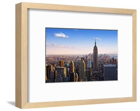 View towards the Empire State Building, Manhattan, New York City, New York, USA--Framed Art Print