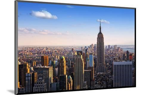 View towards the Empire State Building, Manhattan, New York City, New York, USA--Mounted Art Print