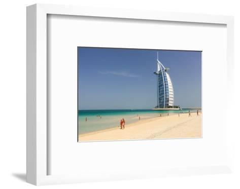 Beach at the Mina A'Salam Hotel Madinat Jumeirah with View of Burj al Arab--Framed Art Print