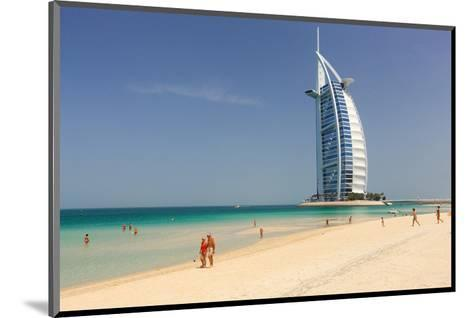 Beach at the Mina A'Salam Hotel Madinat Jumeirah with View of Burj al Arab--Mounted Art Print