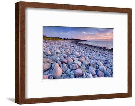 Beach at Green Point in Gros Morne National Park on the West Coast, Newfoundland, Canada--Framed Art Print