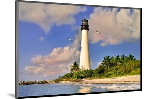 Lighthouse at Bill Baggs Cape, Key Biscayne, Florida, USA--Mounted Art Print