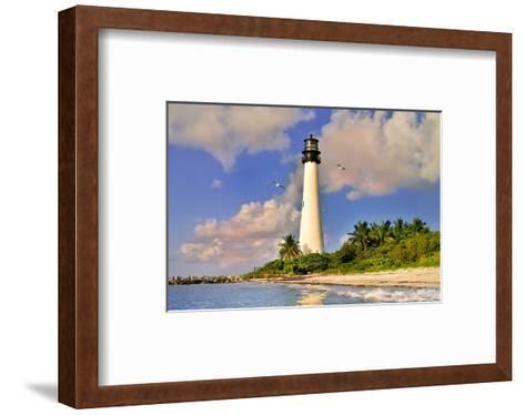 Lighthouse at Bill Baggs Cape, Key Biscayne, Florida, USA--Framed Art Print