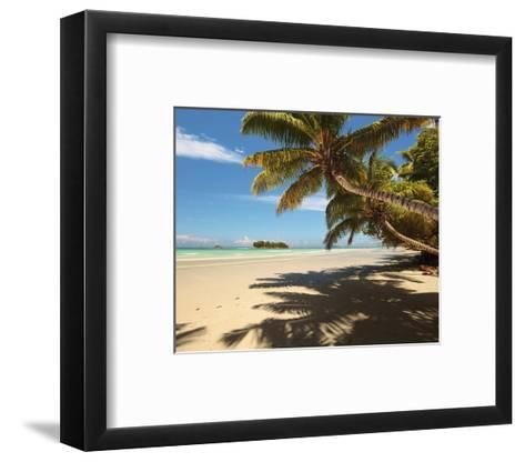 Anse Volbert beach, Praslin Island, Seychelles--Framed Art Print