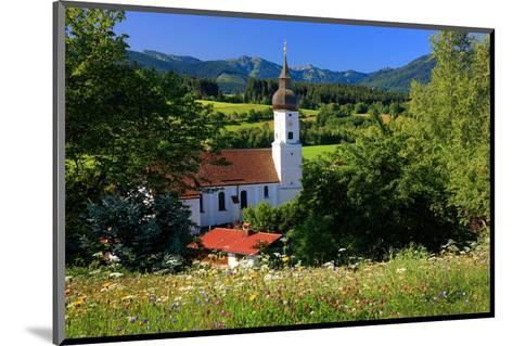 Parish church of St. Georg in Bad Bayersoien, Upper Bavaria, Germany--Mounted Art Print