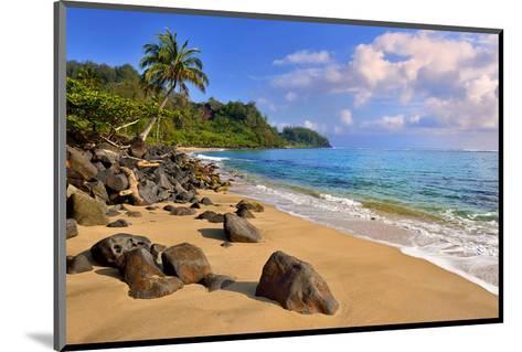 Lumahai Beach near Hanalei, Island of Kauai, Hawaii, USA--Mounted Art Print