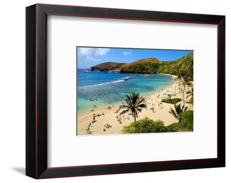 View of Hanauma Bay, Island of Oahu, Hawaii, USA--Framed Art Print