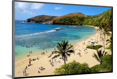 View of Hanauma Bay, Island of Oahu, Hawaii, USA--Mounted Art Print