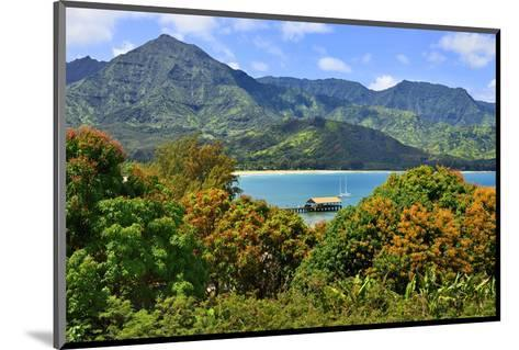 View across the Bay at Hanalei Beach, Island of Kauai, Hawaii, USA--Mounted Art Print