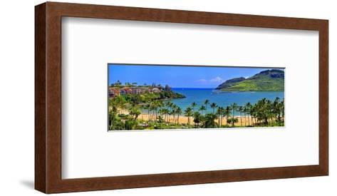 Kalapaki Bay at the Marriott Hotel, Lihue, Island of Kauai, Hawaii, USA--Framed Art Print