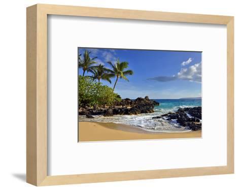 Makena Beach State Park with View towards Molokini Island, Island of Maui, Hawaii, USA--Framed Art Print