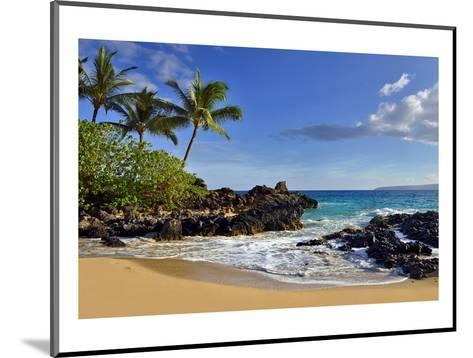 Makena Beach State Park with View towards Molokini Island, Island of Maui, Hawaii, USA--Mounted Art Print