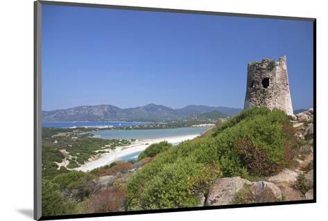 Torre di Porto Giunco Tower and Simius Beach near Villasimius, Sardinia, Italy--Mounted Art Print
